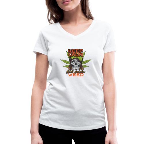 Skulls set 12 - T-shirt ecologica da donna con scollo a V di Stanley & Stella