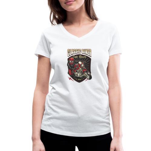 Classic Biker - T-shirt ecologica da donna con scollo a V di Stanley & Stella
