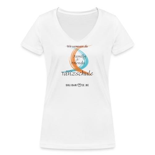 family and friends schwarz - Frauen Bio-T-Shirt mit V-Ausschnitt von Stanley & Stella