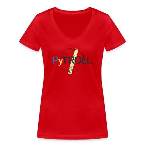 light logo spectral - Women's Organic V-Neck T-Shirt by Stanley & Stella