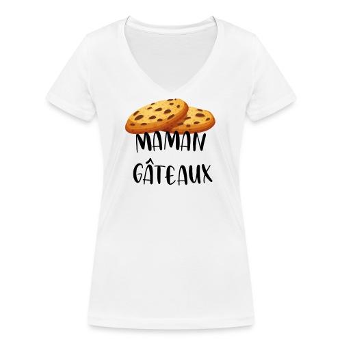 Maman gâteaux - T-shirt bio col V Stanley & Stella Femme
