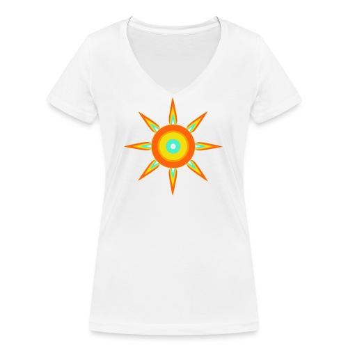 Strahlstern - Frauen Bio-T-Shirt mit V-Ausschnitt von Stanley & Stella