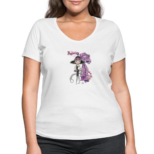 Pantherilly Tiffany - T-shirt ecologica da donna con scollo a V di Stanley & Stella