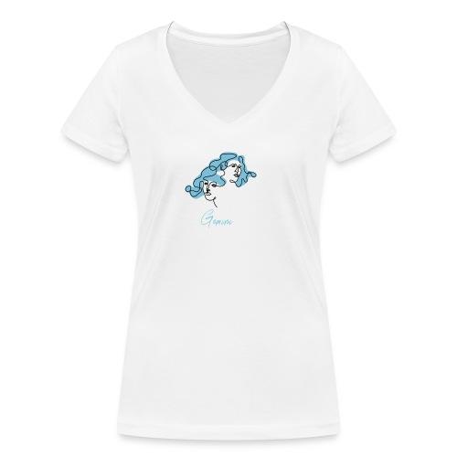 Gemini Zodiac Sign Line Art - Frauen Bio-T-Shirt mit V-Ausschnitt von Stanley & Stella
