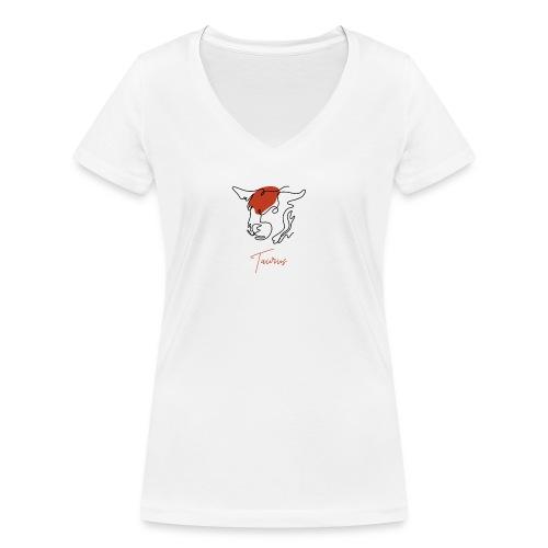 Taurus Zodiac Sign Line Art - Frauen Bio-T-Shirt mit V-Ausschnitt von Stanley & Stella