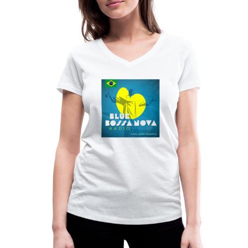 BLUE BOSSA NOVA RADIO - Women's Organic V-Neck T-Shirt by Stanley & Stella