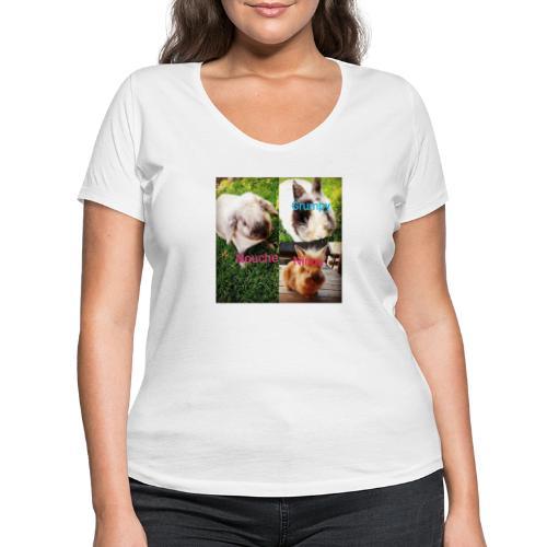 Mygoodanimallife - Vrouwen bio T-shirt met V-hals van Stanley & Stella