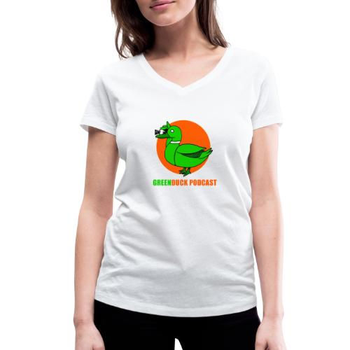 Greenduck Podcast Logo - Økologisk Stanley & Stella T-shirt med V-udskæring til damer