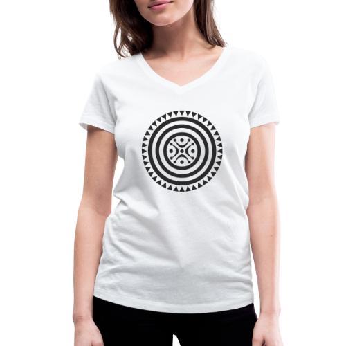 Estela cántabra negra - Camiseta ecológica mujer con cuello de pico de Stanley & Stella