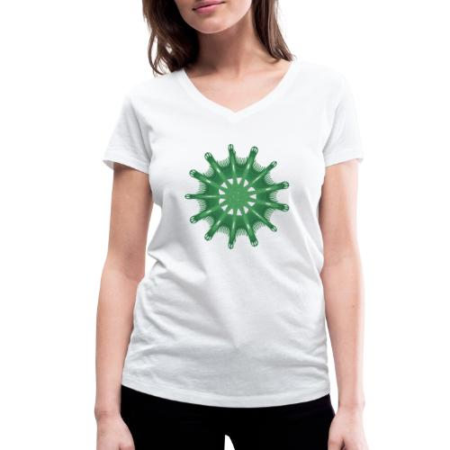 green steering wheel Green starfish 9376alg - Women's Organic V-Neck T-Shirt by Stanley & Stella