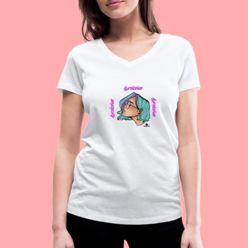 Lynioka Purple Up - T-shirt bio col V Stanley & Stella Femme