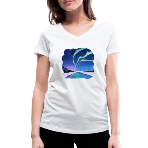 Réflexion des aurores boréales - T-shirt bio col V Stanley & Stella Femme