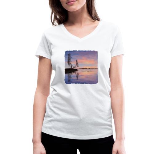 Soirée tranquille - T-shirt bio col V Stanley & Stella Femme