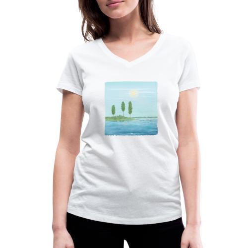 zomertijd - T-shirt bio col V Stanley & Stella Femme