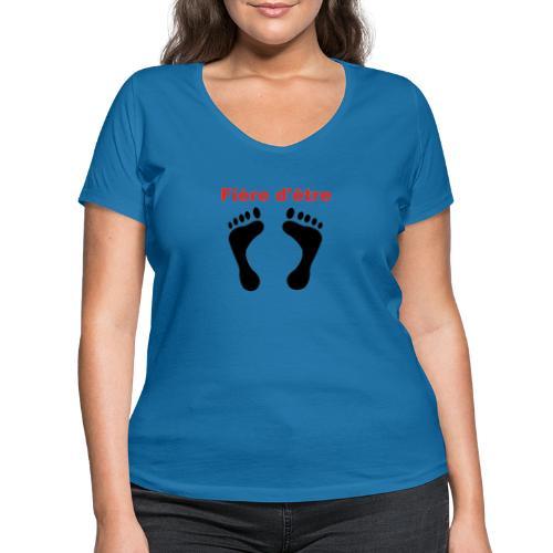 Fière d'être pied-noir - T-shirt bio col V Stanley & Stella Femme