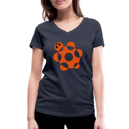 Tartaruga - T-shirt ecologica da donna con scollo a V di Stanley & Stella