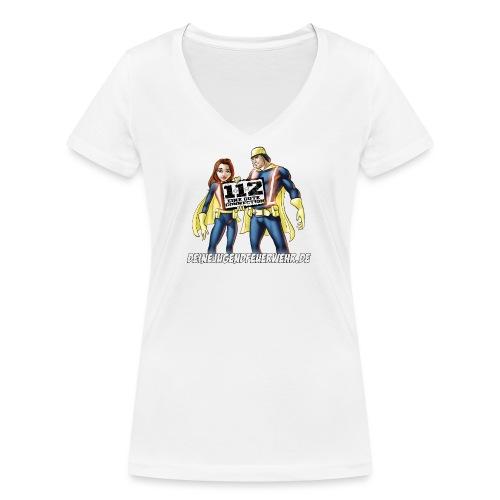 Superhelden & Logo - Frauen Bio-T-Shirt mit V-Ausschnitt von Stanley & Stella