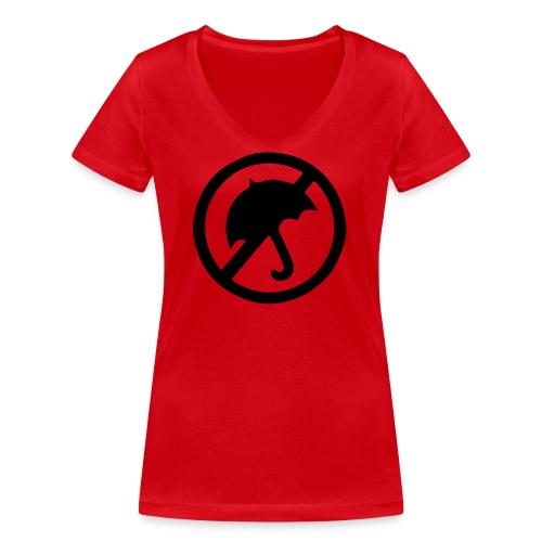 rainmakerlogo - Stanley & Stellan naisten v-aukkoinen luomu-T-paita