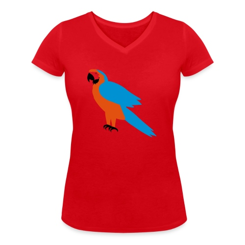 Parrot - T-shirt ecologica da donna con scollo a V di Stanley & Stella