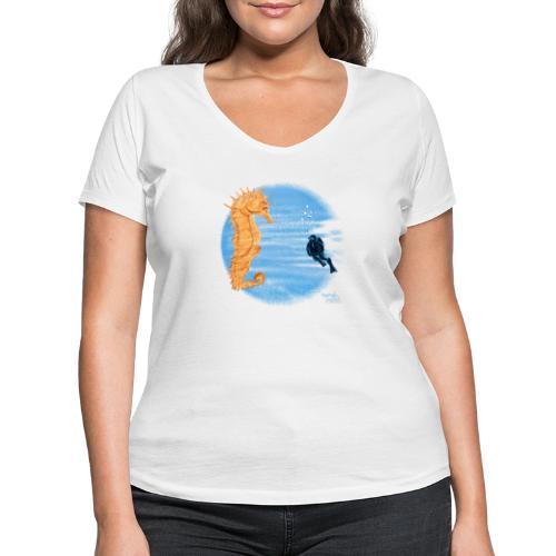 hippocampe - T-shirt bio col V Stanley & Stella Femme