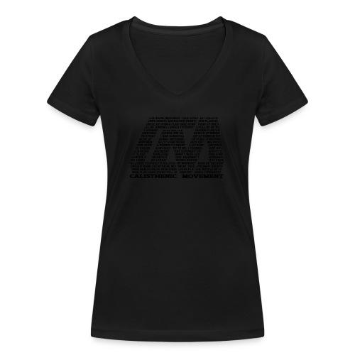 CM Logo aus Text schwarz - Frauen Bio-T-Shirt mit V-Ausschnitt von Stanley & Stella