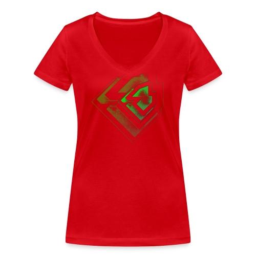 BRANDSHIRT LOGO GANGGREEN - Vrouwen bio T-shirt met V-hals van Stanley & Stella