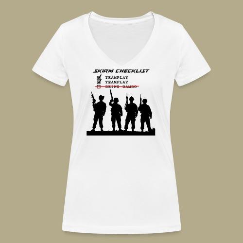 Skirm Checklist - Vrouwen bio T-shirt met V-hals van Stanley & Stella