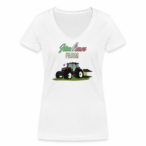 Italian Farm official T-SHIRT - T-shirt ecologica da donna con scollo a V di Stanley & Stella