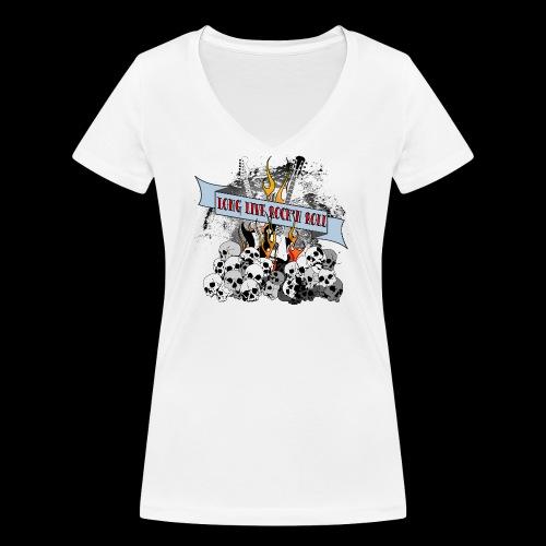 long live - Ekologisk T-shirt med V-ringning dam från Stanley & Stella