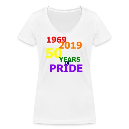 50 Jahre CSD - Frauen Bio-T-Shirt mit V-Ausschnitt von Stanley & Stella