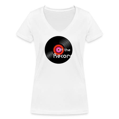 Off the Record - Stanley & Stellan naisten v-aukkoinen luomu-T-paita