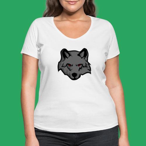 wolf logo - T-shirt ecologica da donna con scollo a V di Stanley & Stella