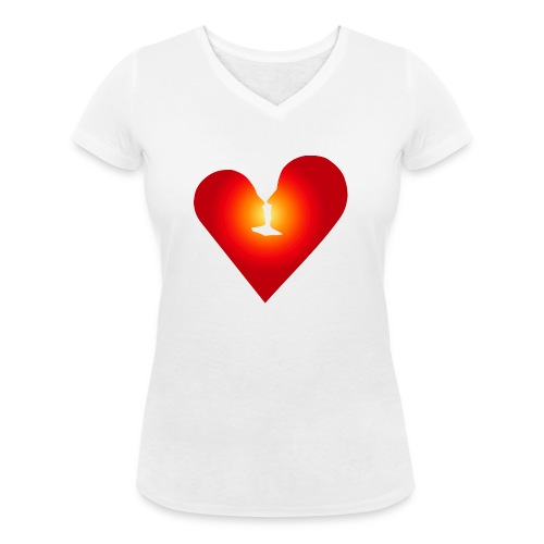 Ein Herz in Liebe - Frauen Bio-T-Shirt mit V-Ausschnitt von Stanley & Stella