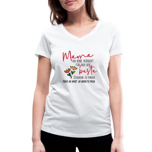 Mamas bestes Geschenk - Frauen Bio-T-Shirt mit V-Ausschnitt von Stanley & Stella