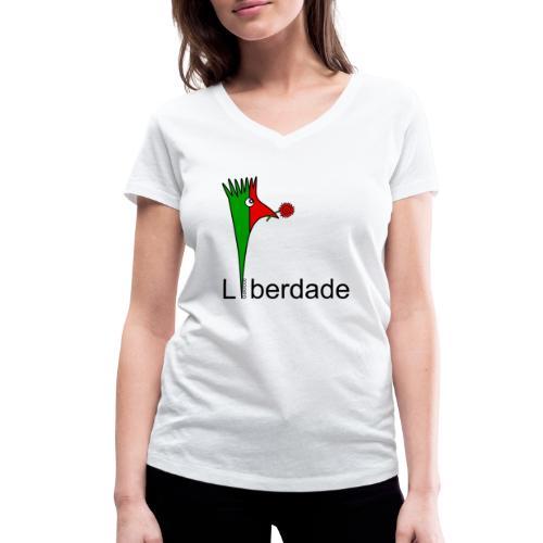 Galoloco - Liberdaded - 25 Abril - T-shirt bio col V Stanley & Stella Femme