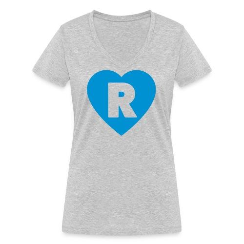 cuoRe - T-shirt ecologica da donna con scollo a V di Stanley & Stella