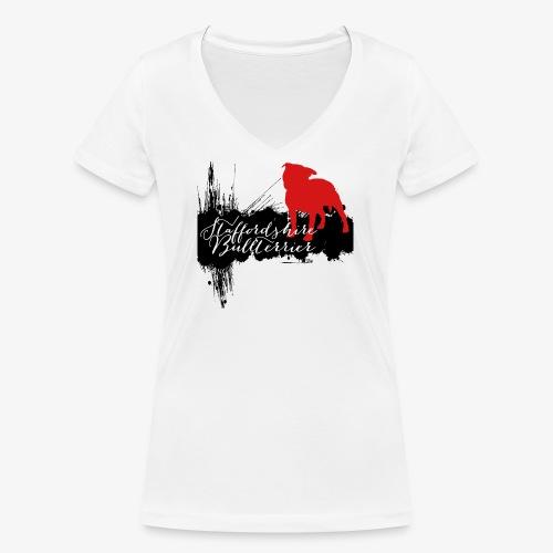 Staffordshire Bullterrier - Frauen Bio-T-Shirt mit V-Ausschnitt von Stanley & Stella