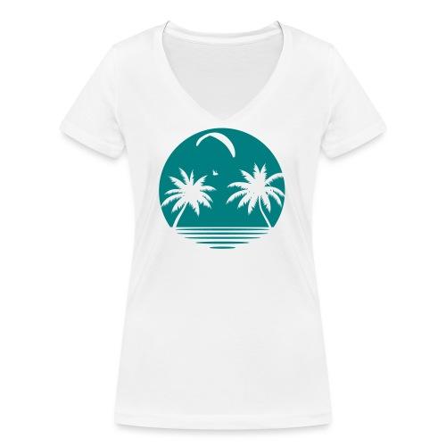 Paragliding Beach - Frauen Bio-T-Shirt mit V-Ausschnitt von Stanley & Stella