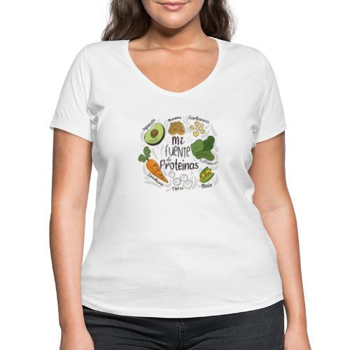 Mi fuente de proteinas - Camiseta ecológica mujer con cuello de pico de Stanley & Stella