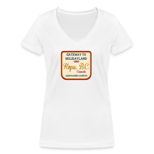 Rambo Hope Holidayland - Ekologiczna koszulka damska z dekoltem w serek Stanley & Stella