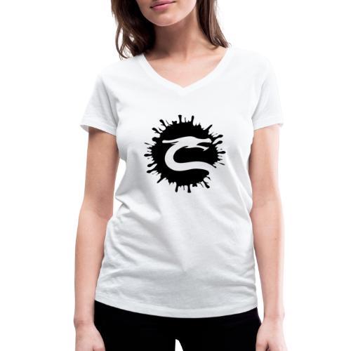 Dragemester_Sort - Økologisk Stanley & Stella T-shirt med V-udskæring til damer