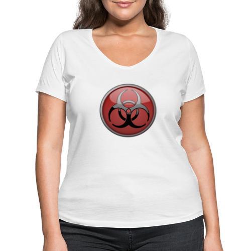 DANGER BIOHAZARD - Frauen Bio-T-Shirt mit V-Ausschnitt von Stanley & Stella