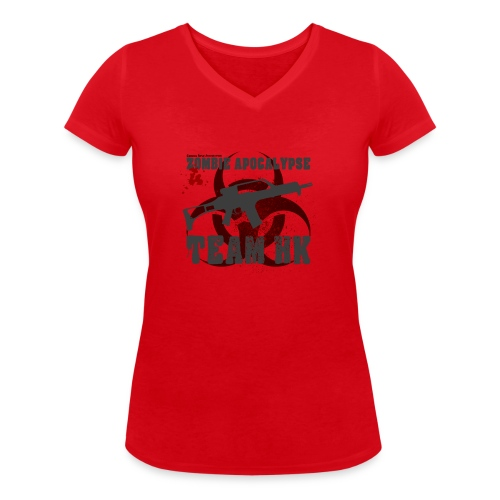 Zombie Apocalypse Team H&K - Frauen Bio-T-Shirt mit V-Ausschnitt von Stanley & Stella