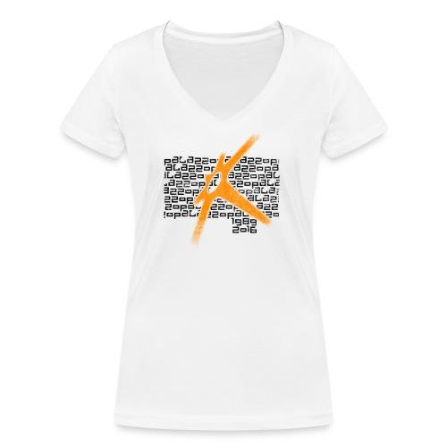 Palazzo Textblock auf weiss/on white - Frauen Bio-T-Shirt mit V-Ausschnitt von Stanley & Stella