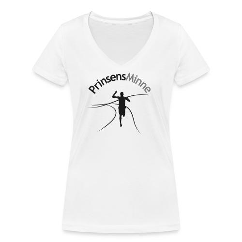 PrinsensMinne logga - Ekologisk T-shirt med V-ringning dam från Stanley & Stella