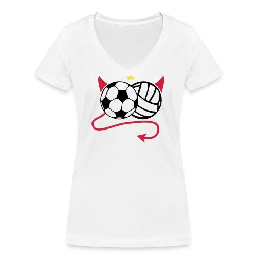 Männer Shirt Cup - Frauen Bio-T-Shirt mit V-Ausschnitt von Stanley & Stella