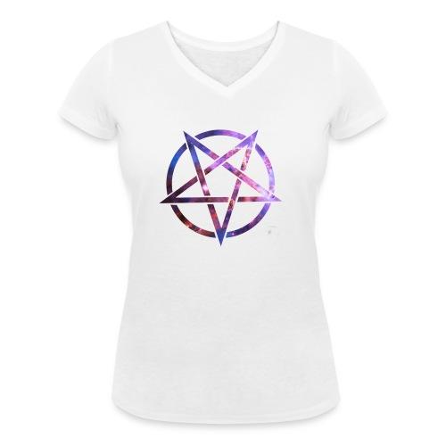 Cosmic Pentagramm - Women's Organic V-Neck T-Shirt by Stanley & Stella