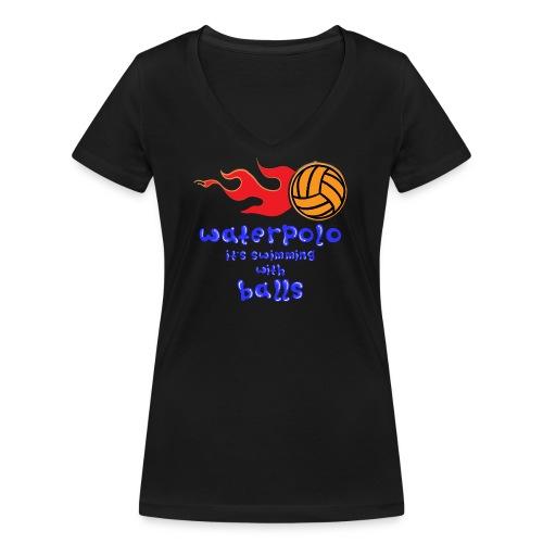 Waterpolo - T-shirt ecologica da donna con scollo a V di Stanley & Stella