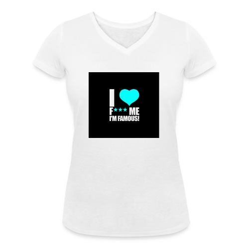 I Love FMIF Badge - T-shirt bio col V Stanley & Stella Femme