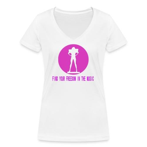 DANCE IN THE DARK unisex - Camiseta ecológica mujer con cuello de pico de Stanley & Stella